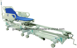 Ce ISO Medical Factory Patient Operation Room Emergency Trolley Bed pictures & photos
