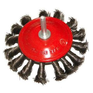 Shaft Wheel Brush with High Quality Wire (75mm, 100mm diameter)