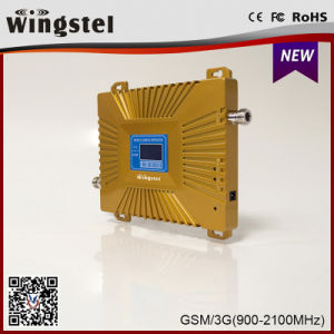 New Design Gold Plus GSM/WCDMA 900 2100MHz Signal Booster for Mobile Phone pictures & photos