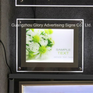 Ultra-Thin Crystal Acrylic Light Box Poster Frame Crystal Picture Frame pictures & photos