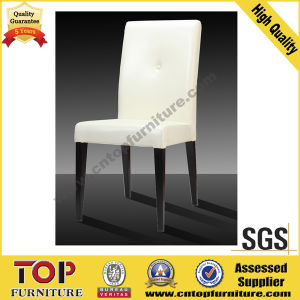 Hotel Banquet Restaurant Metal White Leather Dining Chair pictures & photos