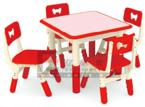 New Design and Purple Kindergarten Children Student Desk and Chair pictures & photos