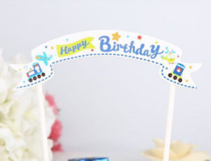 Happy Birthday Letter Bunting Set Mini Flag Cake Banner