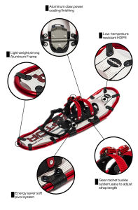 with Quality Warranted Winter Sports Camping Hiking Aluminum Walking Snowshoes pictures & photos