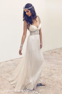 2018 High Quality Sexy Beach A Lin Crystal Boho Wedding Dress