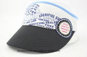 China Airmesh Screen Print Golf Cap with Woven Patch Sun Visor Cap ... 1c591931539