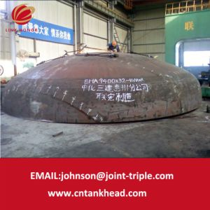 01-03-Large Carbon Steel Ellipsoidal head ASME pressure vessel tank head (9400mm*32mm)