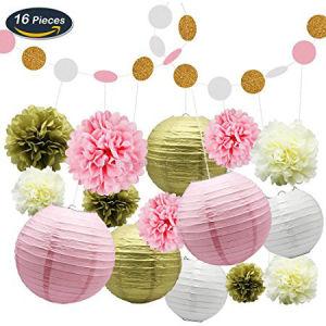 Umiss Paper Flower Lanterns Birthday Baby Shower Wedding Party Decorations