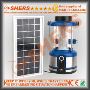 Solar Powered 36 SMD LED Camping Lantern USB Outlet