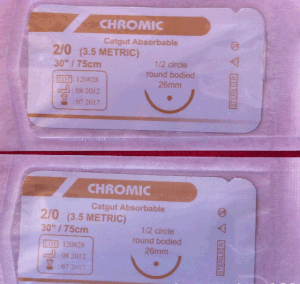 Surgical Suture, USP2/0 Chromic Suture with Needle pictures & photos
