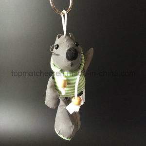 Cute Green Stripe Dressed Mouse Reflective Safety Toy pictures & photos