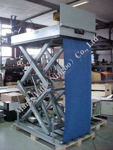 Marco High Scissor Lift Table with Loading Flap and Curtain pictures & photos