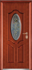 Wrought Iron Glass Entry Door (WX-LSG-111)
