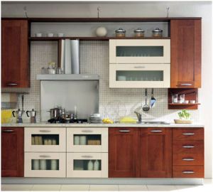 American Style Solid Wood Kitchen Cabinet pictures & photos