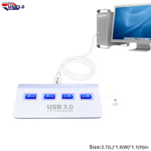 USB3.0 4 Port Superspeed Hub with LED Light