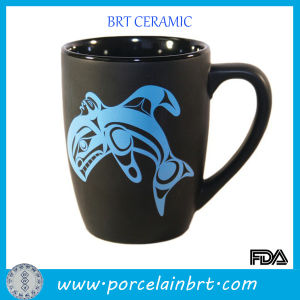 Blue Whale Print Matt Porcelain Coffee Mug pictures & photos