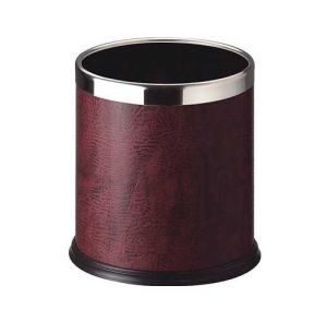 Round Leatherette Dustbin for Hotel Guestroom&Home pictures & photos
