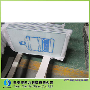 Clear Tempered Printing Glass Panel for Water Dispenser