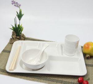 White Plastic Melamine European Fast Food Plate Tray Lunch Box Plate Imitation Porcelain Sushi Dish Canteen & China White Plastic Melamine European Fast Food Plate Tray Lunch Box ...