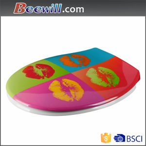 Beautiful Design Colorful Printed Toilet Seat with Slow Close Function pictures & photos