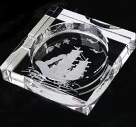 New Desgn Deep Engraved for Decoration or Gift Crystal Cigar Ashtray pictures & photos