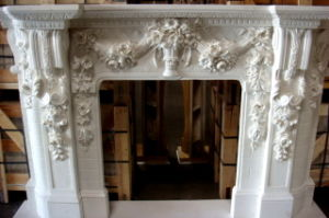 Marble Fireplace, Marble Mantel, Hand Craft Fireplace