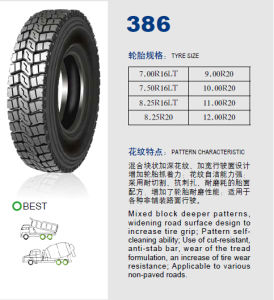 Annaite Brand New Radial Truck Tyre (386 10.00R20 11.00R20 12.00R20) pictures & photos