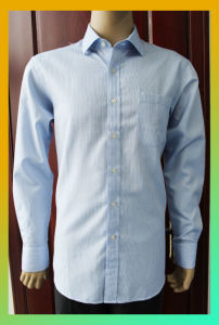 100% Cotton Small Stripe Shirt for Man and Lady (FLP14A1066)