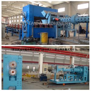Rubber Sheet Cold Feed Extruder Machine with PLC & Temperature Control System pictures & photos