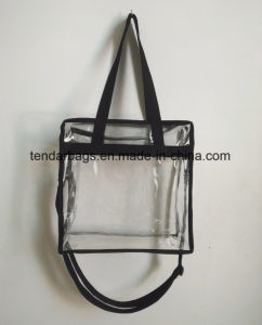 632ff822788 Clear Plastic 12 X 12 X 6 NFL Stadium Approved Tote Bag with Black Handles  pictures