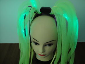 LED Headwear, Headwear, 12 LED Noodle Wig