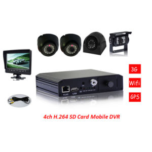 3G, GPS and Online Realtime Video Monitoring, 3G WiFi H. 264 SD Mobile DVR, GPS Mobile DVR pictures & photos