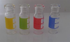1ml Colored Mini Tubular Glass Vials for Pharmaceutical Packing
