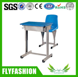 Wooden Middle Single Student Desk and Chair (SF-81S) pictures & photos
