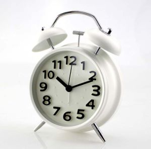 Mini Non Ticking Vintage Classic Bedside /Table Alarm Clock With Backlight,  Travel Clock, Round Twin Bell Loud Alarm Clock