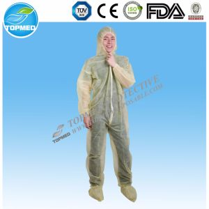Disposable PP Nonwoven Fabric Protective Coverall pictures & photos