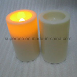 Garden Waterproof Battery Plastic Romantic Amber Luminary Lighting Votive LED Candles pictures & photos