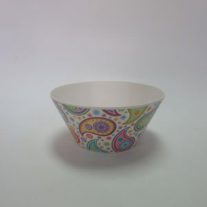 Bamboo Fiber Small Bowl Salad Bowl Soup Bowl Paisley Design Tableware