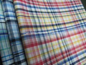 Shirt Used Cotton Yarn Dyed Check Fabric pictures & photos