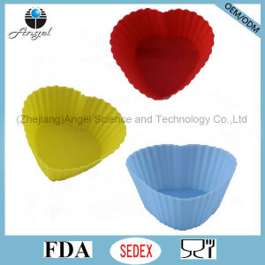 7cm Heart Shape Cake Tool Silicone Muffin Cupcake Mold Sc15