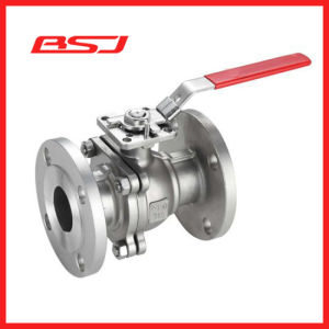 High Mounting Pad Flanged Ball Valve with Locking Handle