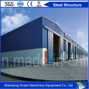 Cost Saving Prefabricated Steel Structure Cladding with Color Steel Sheet or Sandwich Panel for Warehouse/Workshop pictures & photos