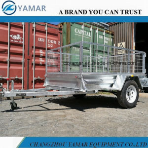 Single Axle Box Trailer with Cage pictures & photos