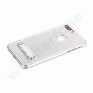 Elegant Wiredrawing Plastic Case with Holder for iPhone 7 pictures & photos