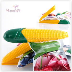 Plastic PP Corn-Shaped Food Bag Clip Set of 2 (15.3*3.7cm) pictures & photos