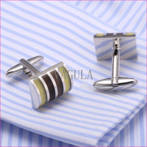 VAGULA High Quality Cuffs Catseye Gemelos Cuff Links Diamond Shirt Cufflinks 310 pictures & photos