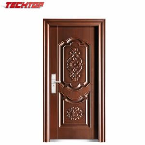 China Tps 095 Good Quality Double Entry Carving Wood Doors Designs