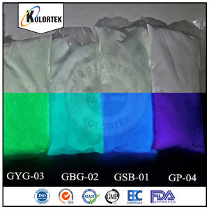 Kolortek Phosphorescent Pigment Glow Dark Powder Supplier pictures & photos