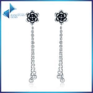 Silver Long Tel Beads Dangle Earrings Women Elegant And Designs New Model Graceful Fine Jewelry Drop