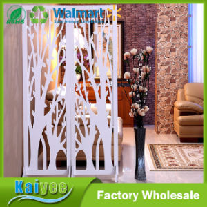 High-Grade MDF Hollow Partition Plate Tracery Wood Carved Screen pictures & photos